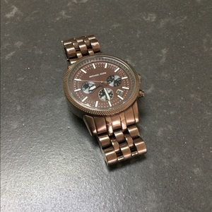 Michale Kors Mens Watch Bronze Metal